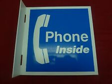 "New Small ""Phone Inside"" Payphone Lexan Sign Pay Phone Payphones Telephone"