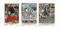 Star Wars Empire Strikes Return Of The Jedi 2 Trilogy Large Posters Set A4 A3 A2