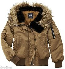 NWT GAP Hooded Snorkel Puffer Bomber Jacket Size XS