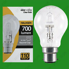 8x 110V 46W=60W Halogen GLS B22 Clear Construction Site Festoon Light Bulb Lamp