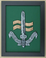 Large Scale Framed SPECIAL BOAT SERVICE CAP BADGE - SBS Plaque