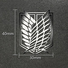 Silver Attack on Titan 3D Metal Sticker For Phone PSP Computer Laptop Cars Toy