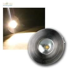 1W LED faretto a incasso Acciaio inox spazzolato Ottica,bianco caldo 350mA CC da
