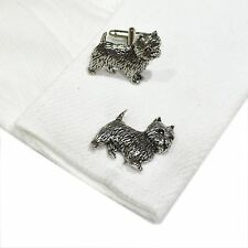 English Pewter WESTIE Dog  Cufflinks. Xmas Gift NEW (X2TSBCD01)