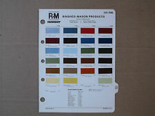 1975 FORD PAINT CHIPS R-M Rinshed-Mason Color Codes LTD Mustang Torino