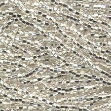 Czech Seed Beads 6/0 Silver Lined Crystal Clear 31701 (6 strand hank) Glass