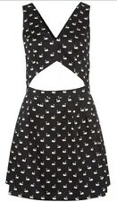 Topshop Iconic Swan Cut Out Vtg 60s Kitsch Celeb Dolly Bralet Skater Dress 8 4 S