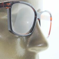 Reading Glasses Simple Large Square Frame Office Smart Coffee Brown +2.00 Lens