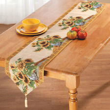 "Bright Sunflower Table Runner 70"" x 13"" Kitchen Dining Table or Sideboard Decor"