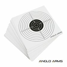 50 Anglo Arms Quality 14cm Paper Card Targets Air Rifle Pistol .177 .20 .22