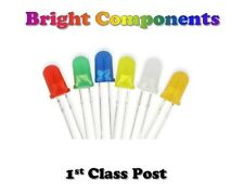 Diffused LEDs 1.8mm/3mm/5mm Red,Blue,White,Green,Yellow,Orange - 1st CLASS POST