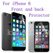 1 x CLEAR Front and Back Protector Film Covers For Apple iPhone 6 4.7""