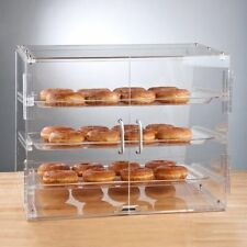 NEW! 3 Tray Choice Bakery Display Case Front Rear Door Donut Pastry Hotel Store