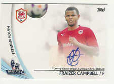 2013-14 TOPPS BARCLAYS ENGLISH PREMIER LEAGUE GOLD FRAIZER CAMPBELL AUTO