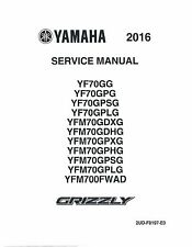 Yamaha ATV service workshop manual 2016 GRIZZLY 700