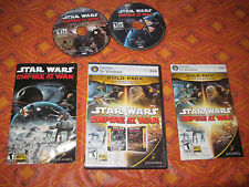 Windows Gold Pack Star Wars Empire at War PC DVD Set Complete
