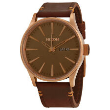 Nixon The Sentry Brown Dial Brown Leather Mens Watch A1052001