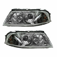 Halogen Headlights Headlamps Left & Right Pair Set NEW for 01-05 VW Passat