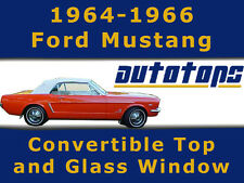 Mustang Convertible Top W/ Glass Window 1964-1966  Color Choice Warranty