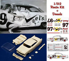 1/32 Parnelli Jones Ford Coupè 1956 resin body kit Slot Car + decals sheet