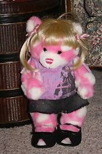 BUILD A BEAR Pink White Heart Hannah Montana Outfit & Wig Plush Magnetic #Y2