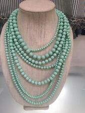 NWOT Multi Strand Mint Green Beaded Necklace Anthropologie