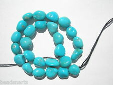 "Genuine Sleeping Beauty Turquoise Nugget  Beads -  8-9x7mm - 8"" Strand"
