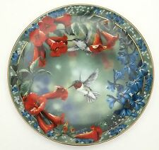 Janene Grende Precious Visions Brilliant Moment Plate Hummingbirds First Issue