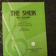 FICHE chanson Le Sheik de araby (nouvelle version) Ted snyder