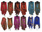 Hot Lady Women Double Sided Butterfly Floral Pashmina Scarf Wrap Shawl