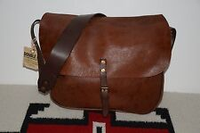 Ralph Lauren RRL Distressed 2-Tone Leather Shoulder Messenger Mailbag Bag