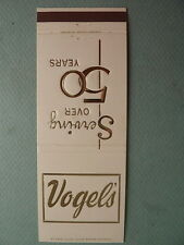 Vintage Matchbook Cover Vogel's Restaurant WHITING INDIANA IN