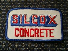 SILCOX CONCRETE Iron or Sew-On Patch
