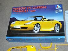 Italeri 1/24 Porsche 911 Carrera Cabriolet 1998 Car Model Kit 685