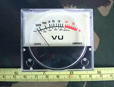 250uA FSD Moving Coil Panel Mount VU Meter, 45mm face, 55mm body  fp