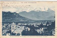 SALLANCHES 136 vue générale et le Mont-Blanc timbrée 1934