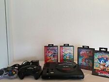 Sega Genesis 16 Bit Console with Sonic 1,2,3 & Spinball Lot Ready to Play