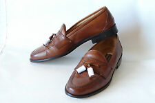 J&M (CELLINI) * ITALY * CLASSIC TASSEL LOAFER IN BROWN  * SZ:9 M * EXCELLENT