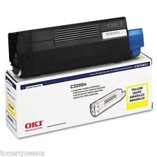 GENUINE Okidata OKI C3100 C3100n C3200 C3200n 43034801 Yellow Toner Cartridge S