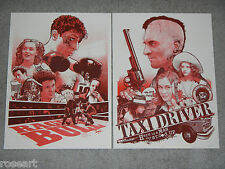 Taxi Driver & Raging Bull ~Variant~ Print Poster Set by Joshua Budich ~S/N of 50