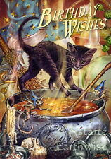 1 x CAULDRON CAPERS BIRTHDAY CARD Wicca Pagan Witch Goth  BRIAR
