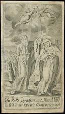 santino incisione 1700 SS.GIOACCHINO E ANNA