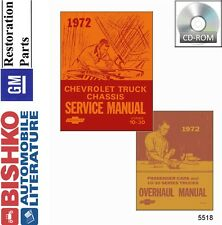 1972 Chevrolet GMC Truck Shop Service Repair Manual CD Engine Drivetrain Wiring