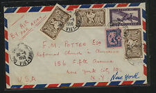 France  Indo China  airmail  cover to  US   1950          SS0322