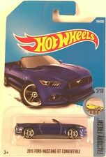 Hot Wheels 2017 - 2015 Ford Mustang GT Convertible (Blue) E Case #104