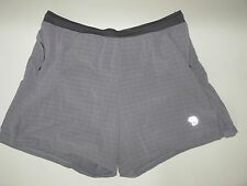 MENS MOUNTAIN HARDWEAR TRAIL RUNNING SHORTS IN GRAY SIZE XL LINED