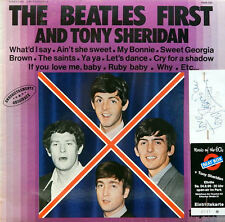 THE BEATLES. First and Tony Sheridan. Mit Ticket und T.S.-Autograph. Collectors!