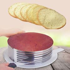 Adjustable Stainless Steel Expandable Layer Cake Slicer Mousse Mould Form Ring
