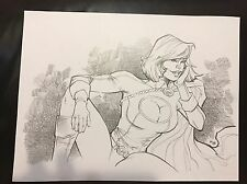 PowerGirl by RB White Original Art