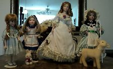 Lovely Lot of 4 collectible dolls..Franklin Heirloom, Wendy Lawton, Seymour Mann